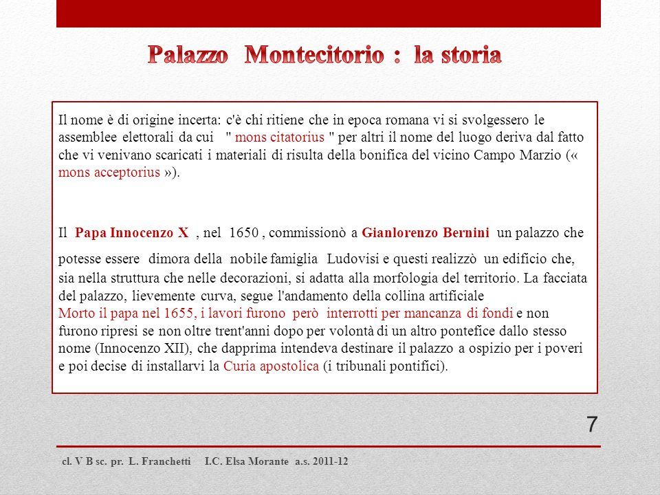 Palazzo Montecitorio : la storia