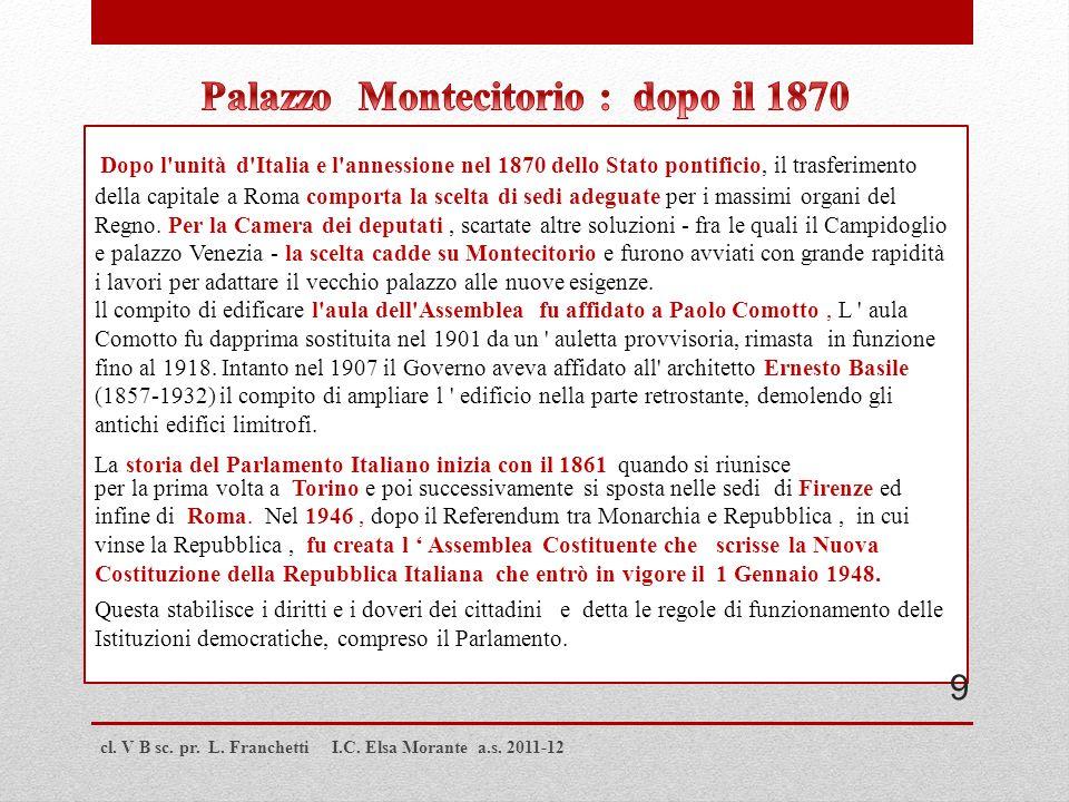 Palazzo Montecitorio : dopo il 1870