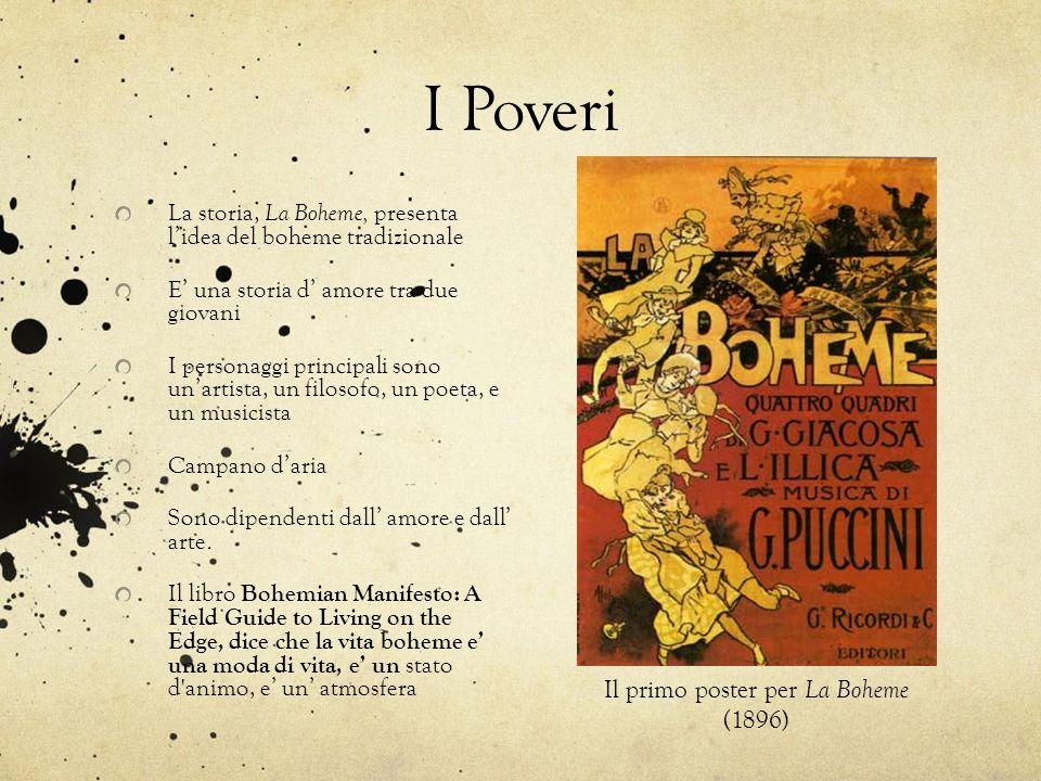 Il primo poster per La Boheme (1896)