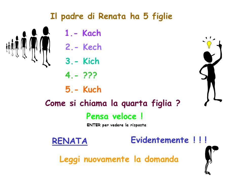 Il padre di Renata ha 5 figlie