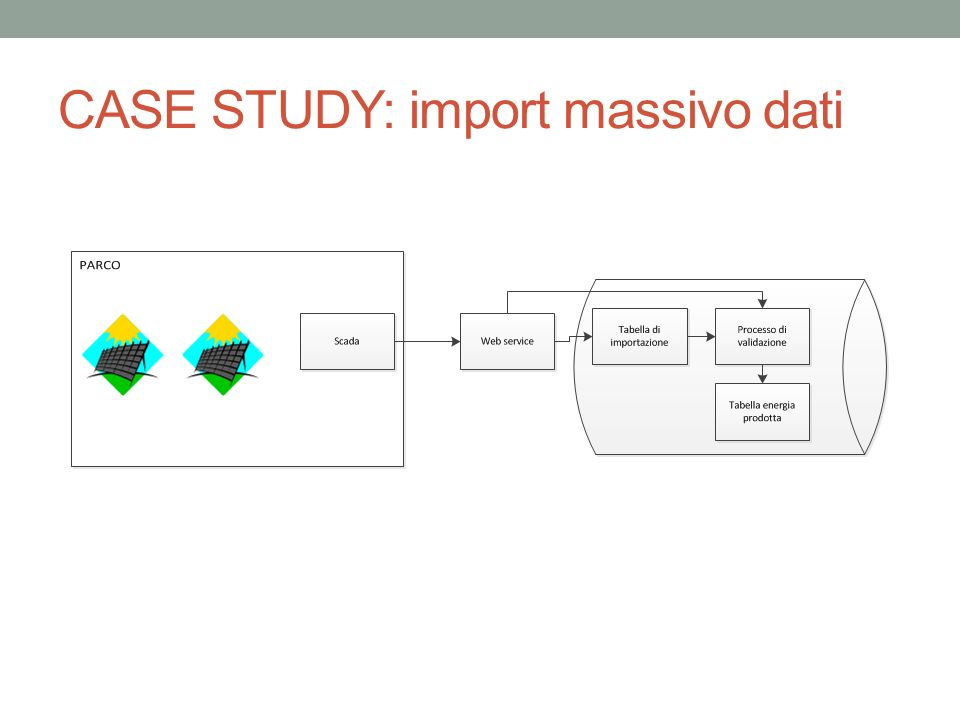 CASE STUDY: import massivo dati