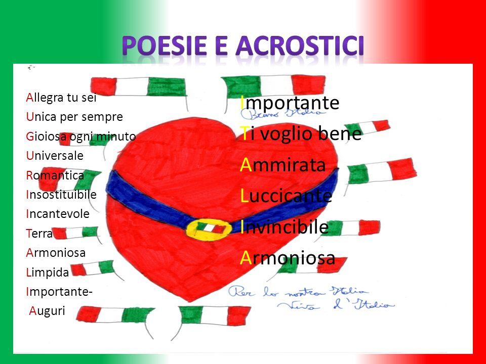 Poesie e Acrostici Importante Ti voglio bene Ammirata Luccicante
