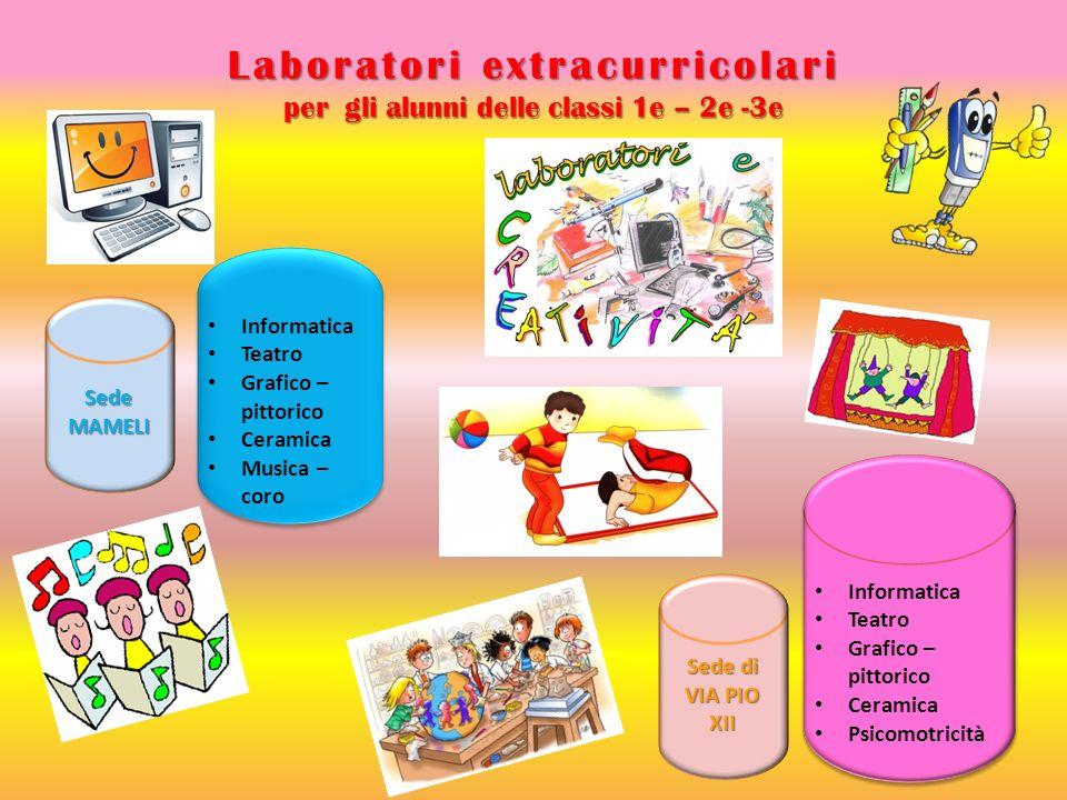 Laboratori extracurricolari per gli alunni delle classi 1e – 2e -3e