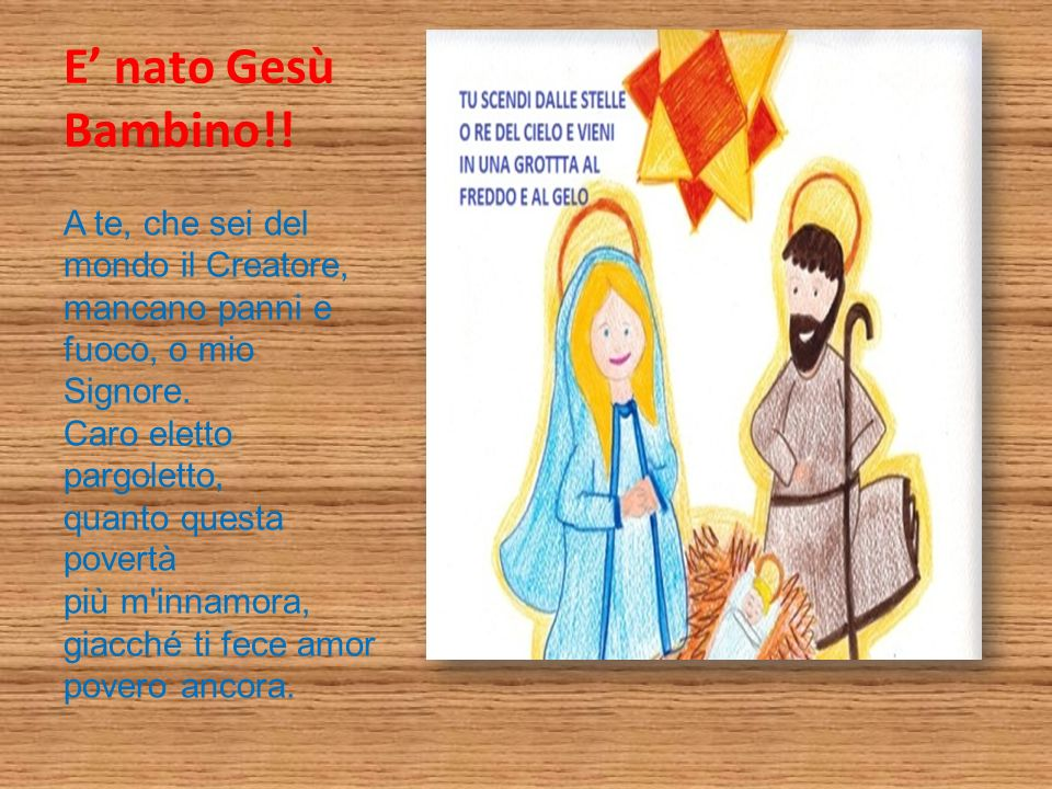 E' nato Gesù Bambino!!
