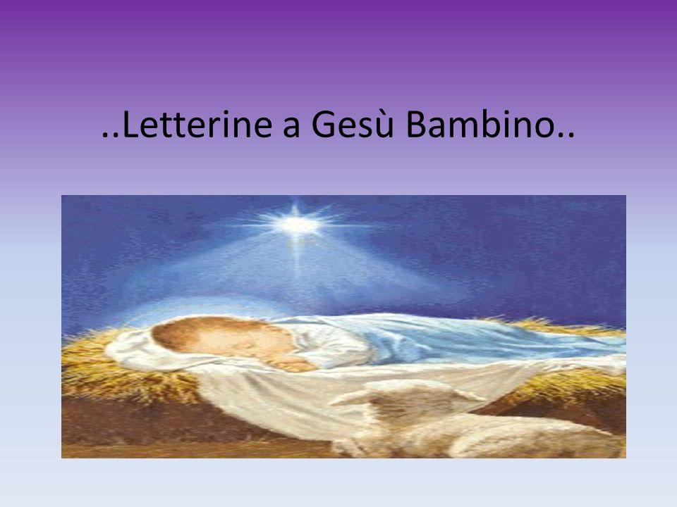 ..Letterine a Gesù Bambino..