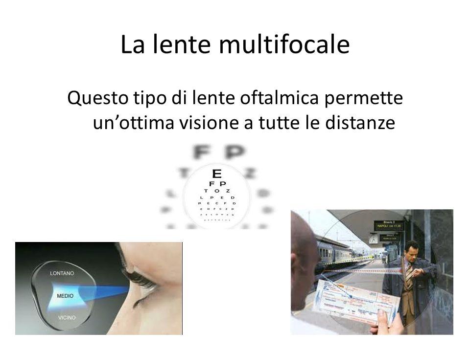 La lente multifocale Questo tipo di lente oftalmica permette un'ottima visione a tutte le distanze