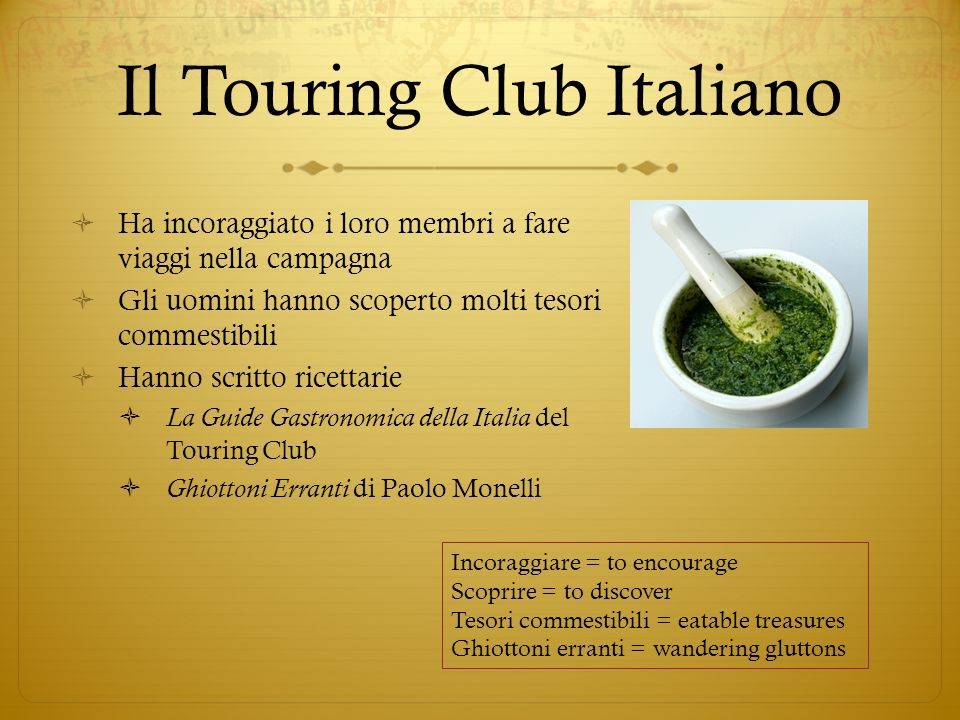 Il Touring Club Italiano
