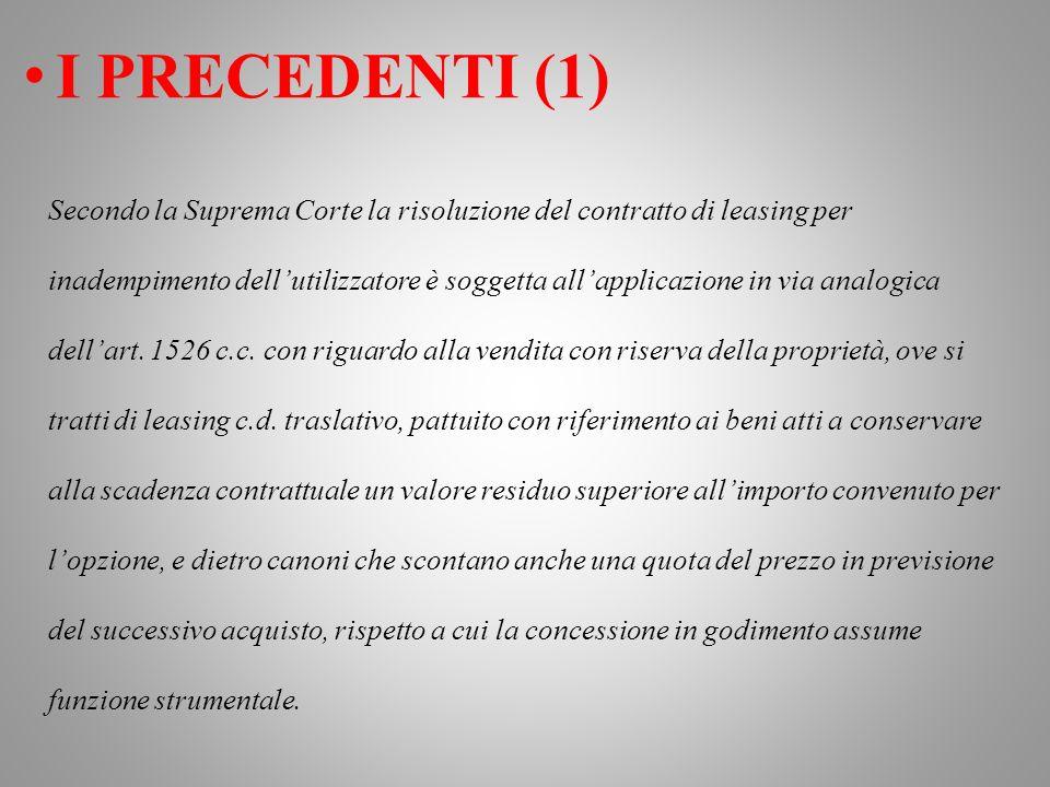 I PRECEDENTI (1)