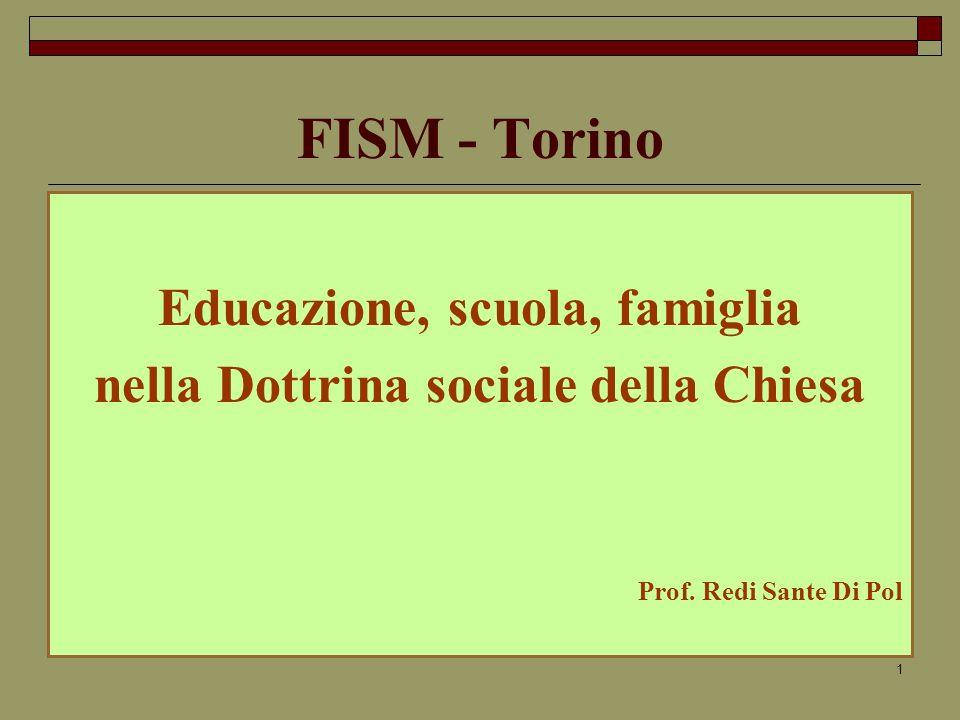 Educazione, scuola, famiglia nella Dottrina sociale della Chiesa