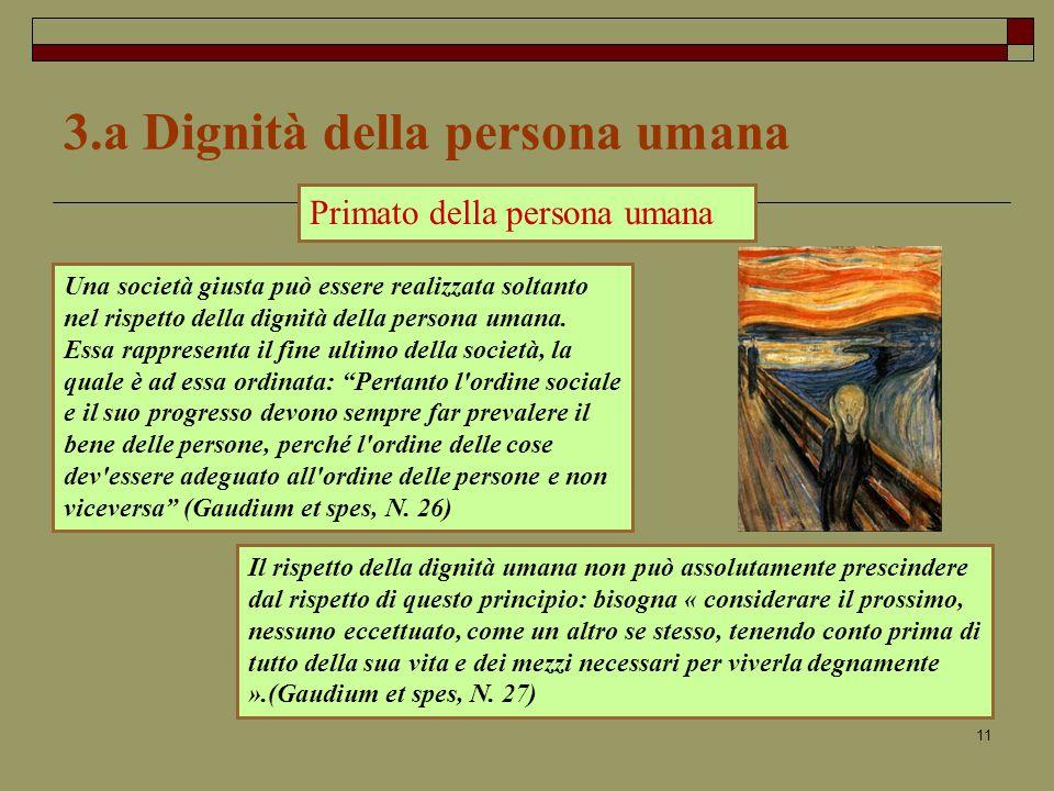 3.a Dignità della persona umana