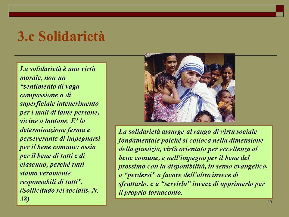 3.c Solidarietà
