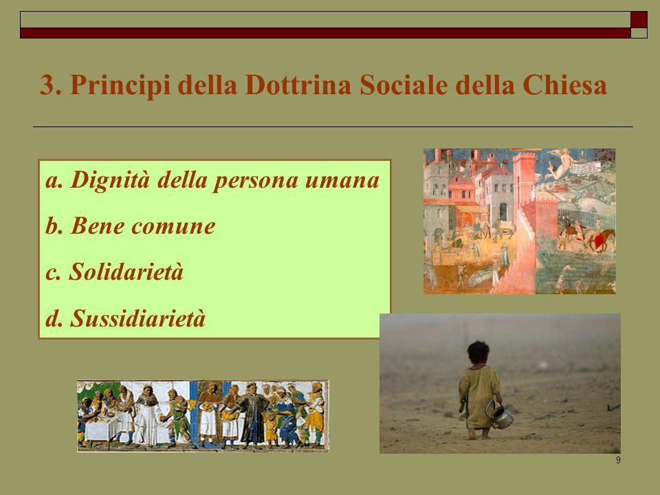 3. Principi della Dottrina Sociale della Chiesa