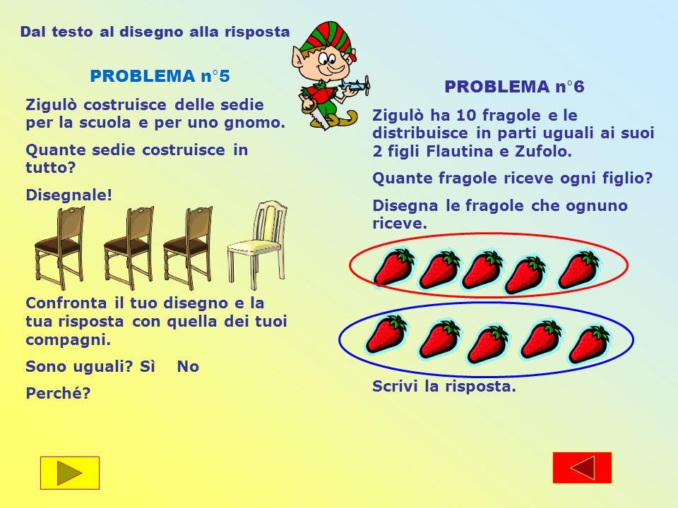 PROBLEMA n°5 PROBLEMA n°6 Dal testo al disegno alla risposta