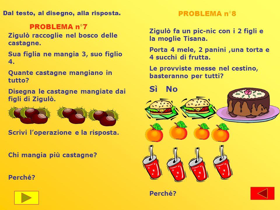 Sì No PROBLEMA n°8 PROBLEMA n°7 Dal testo, al disegno, alla risposta.
