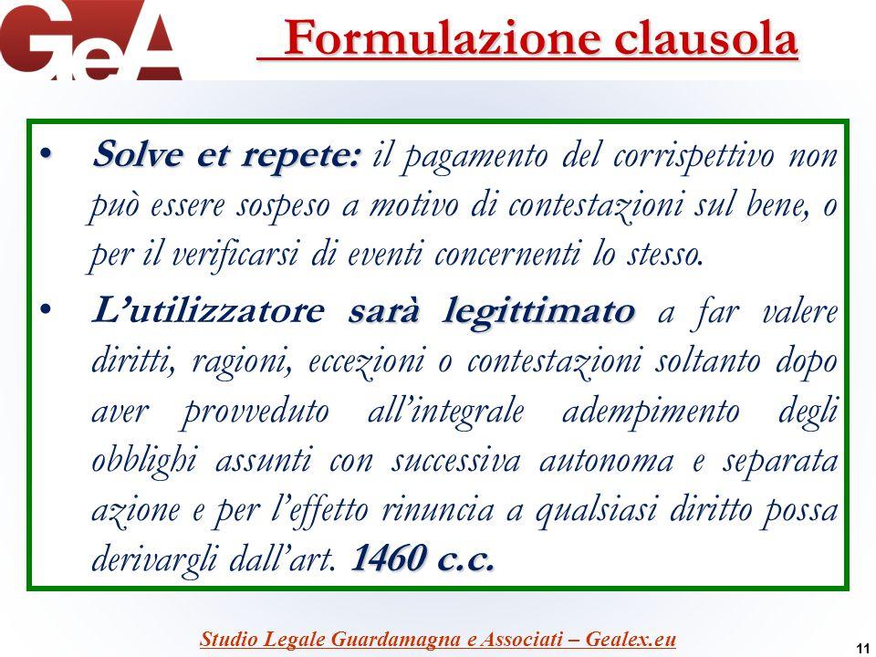 Formulazione clausola