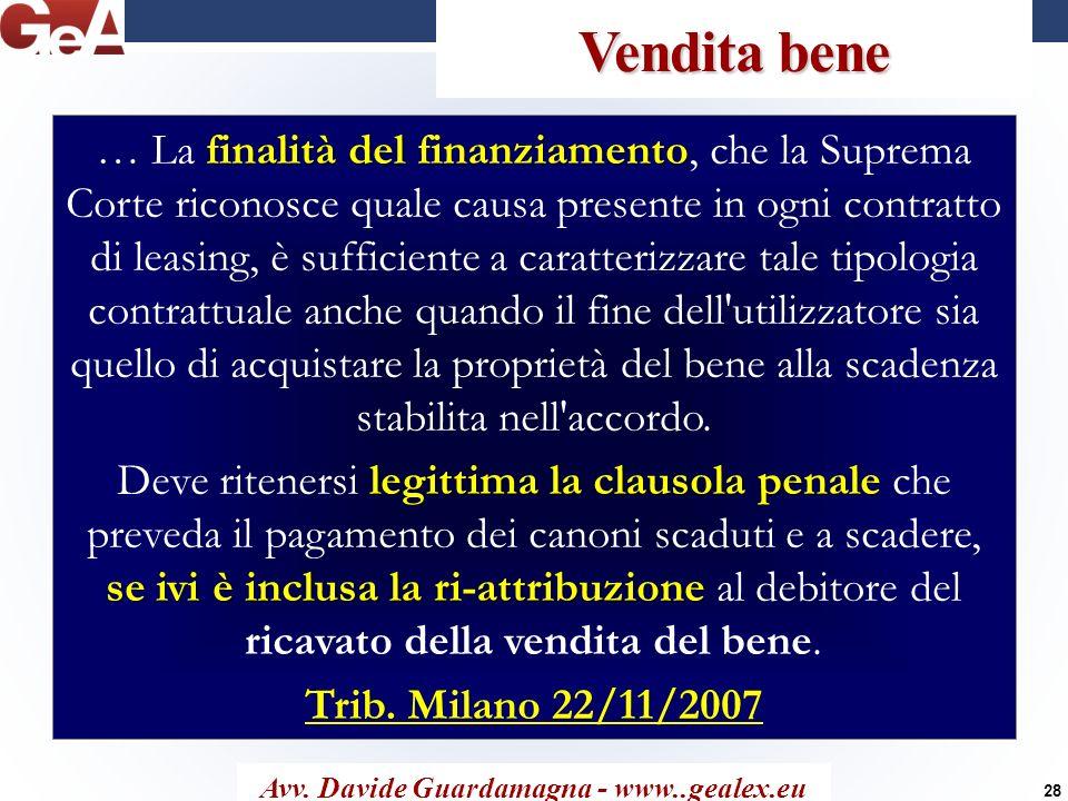 Avv. Davide Guardamagna - www..gealex.eu