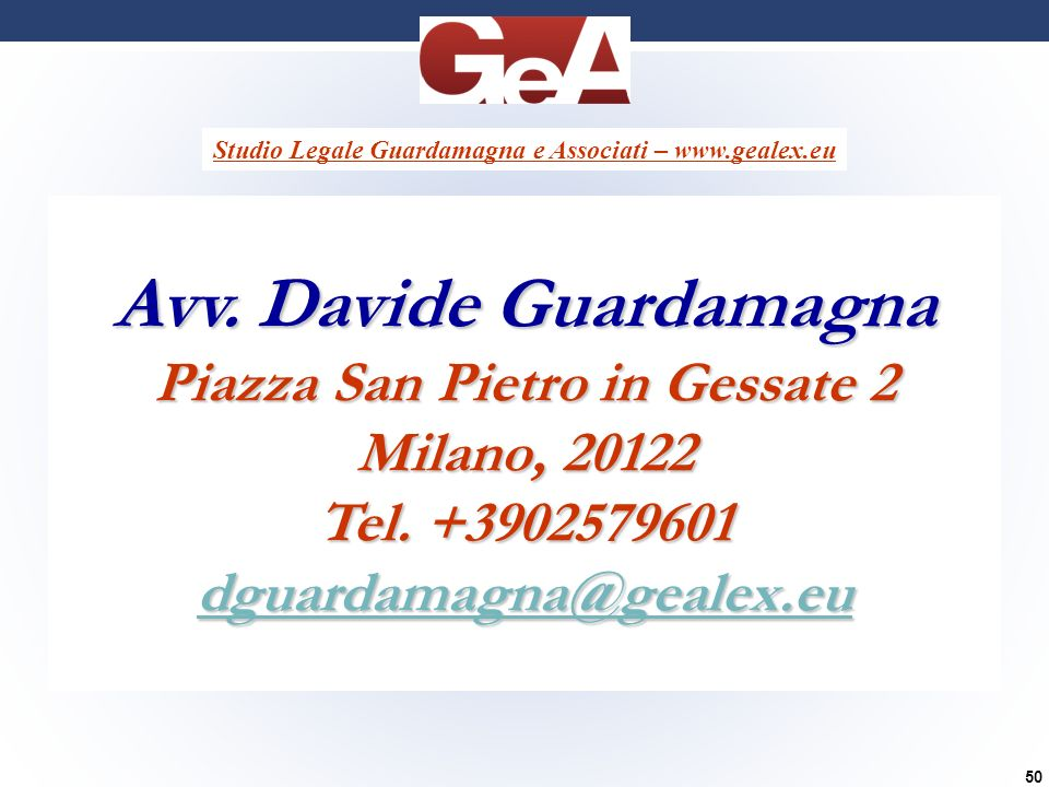 Avv. Davide Guardamagna Piazza San Pietro in Gessate 2
