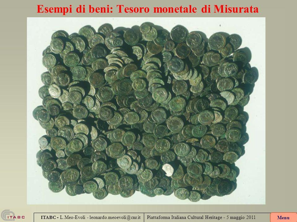 Esempi di beni: Tesoro monetale di Misurata