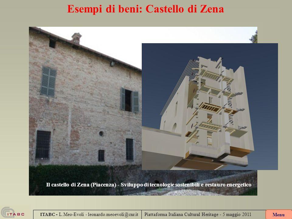 Esempi di beni: Castello di Zena