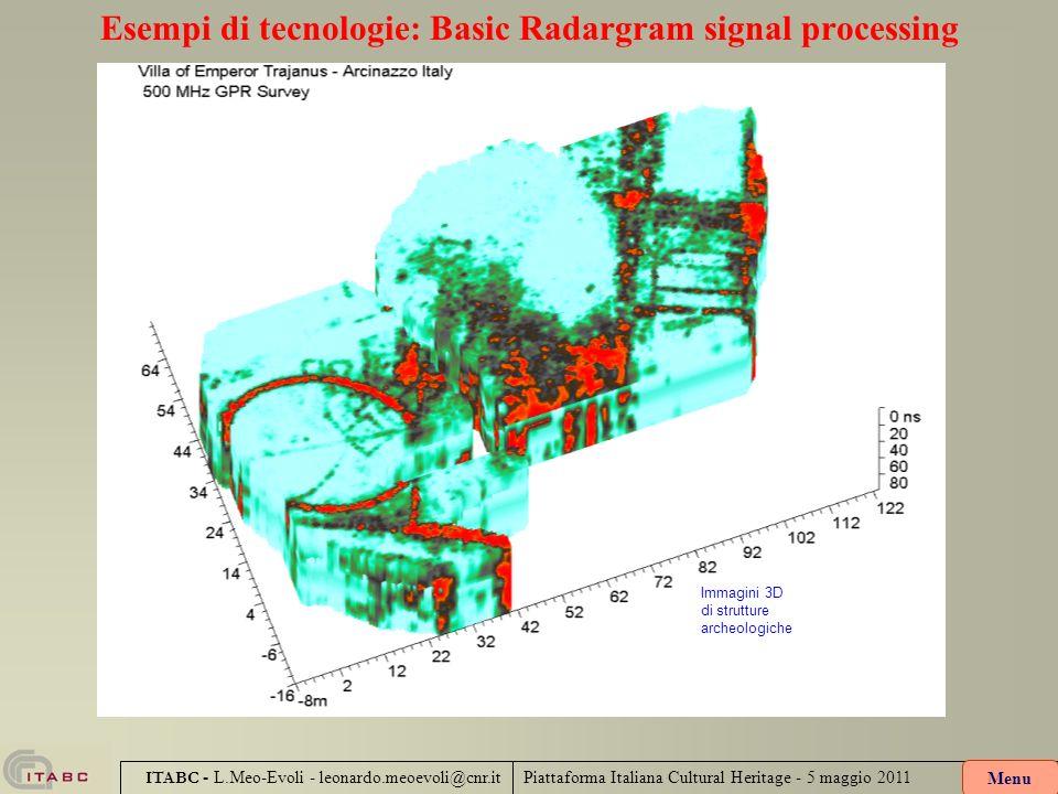 Esempi di tecnologie: Basic Radargram signal processing