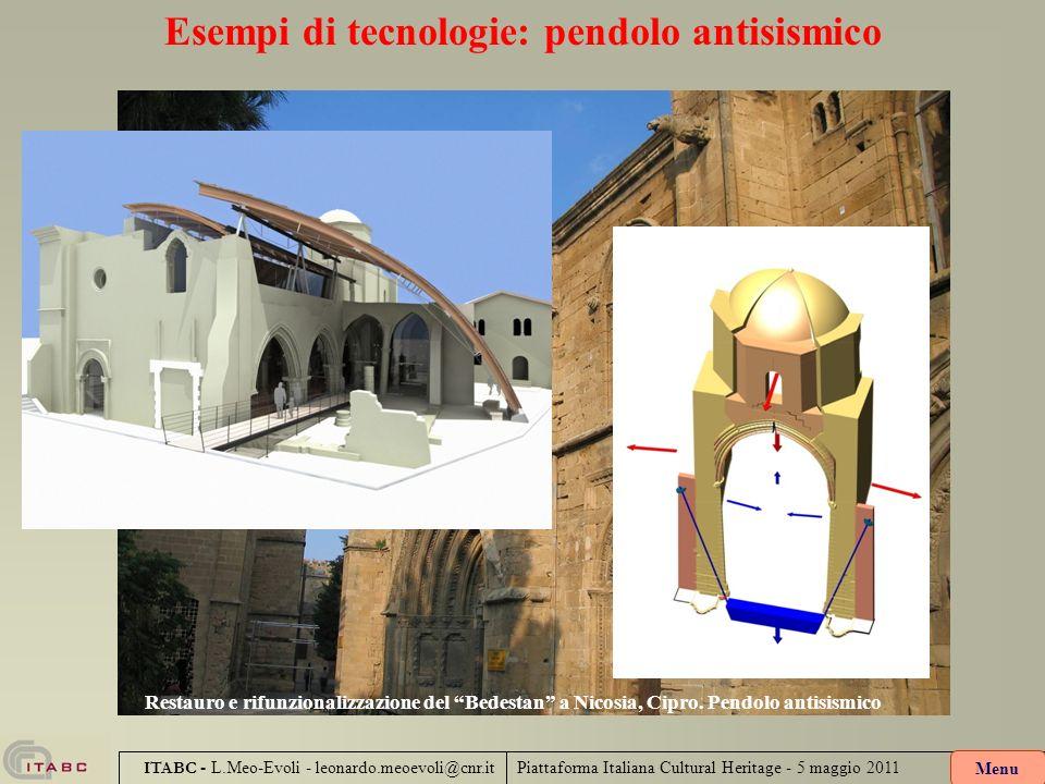 Esempi di tecnologie: pendolo antisismico