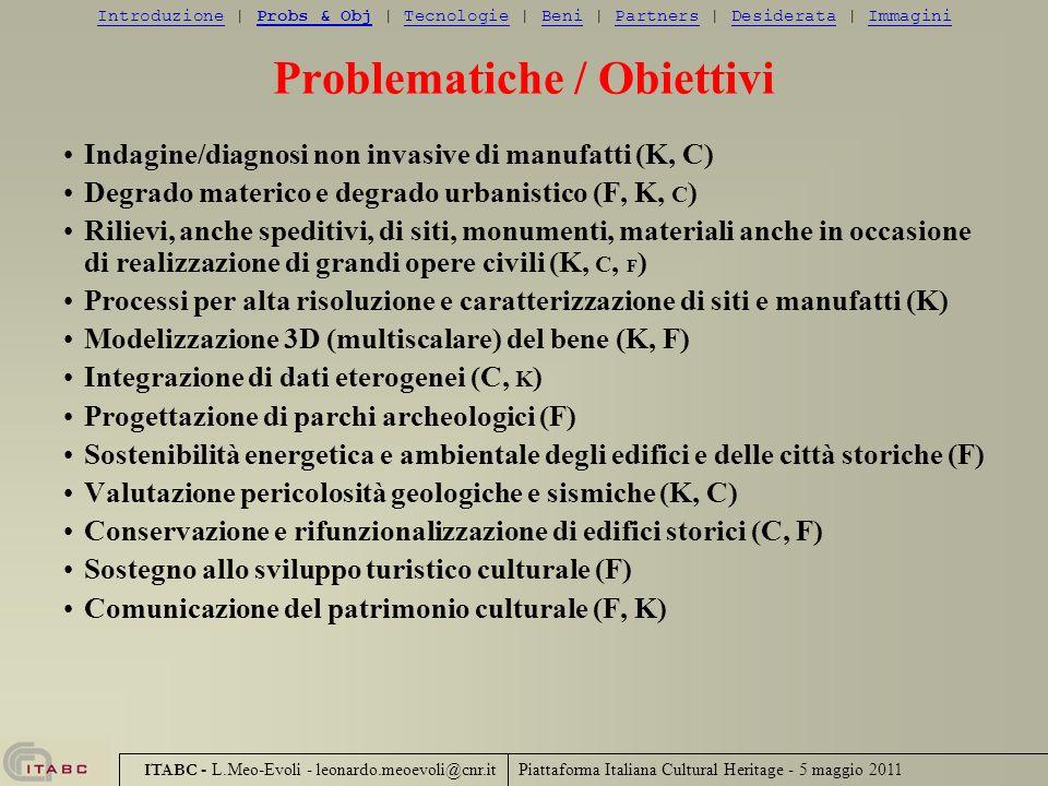 Problematiche / Obiettivi