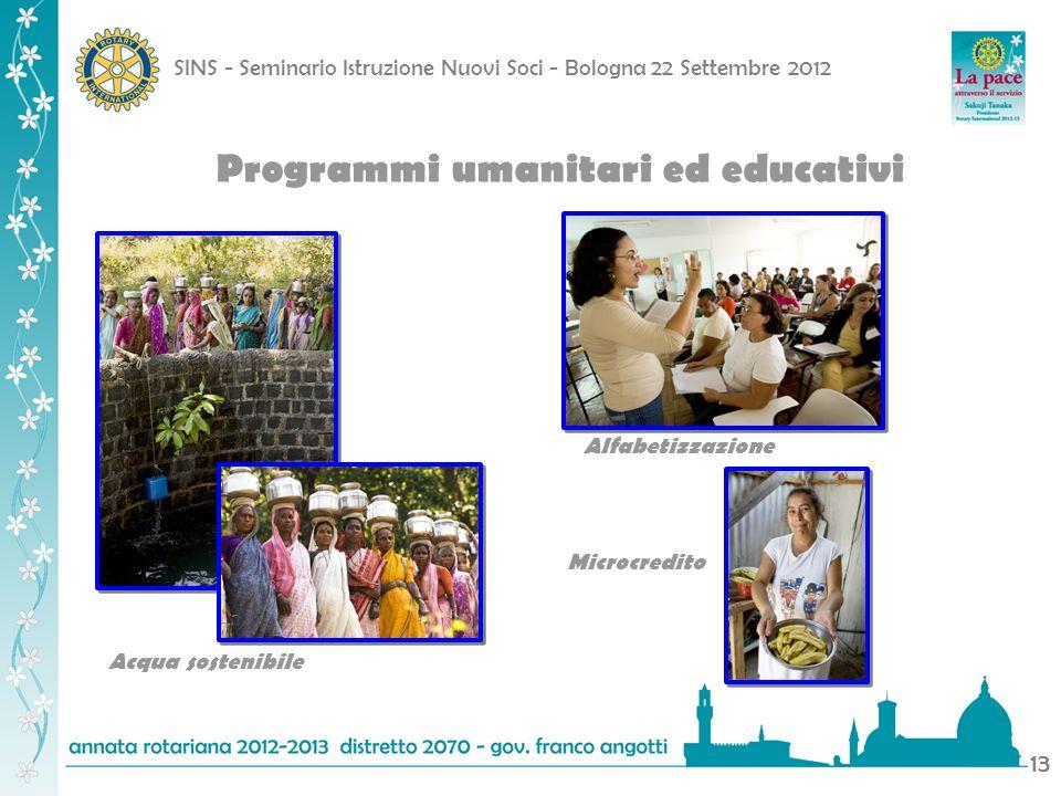 Programmi umanitari ed educativi