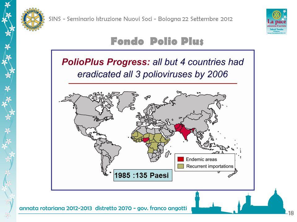 Fondo Polio Plus 1985 :135 Paesi