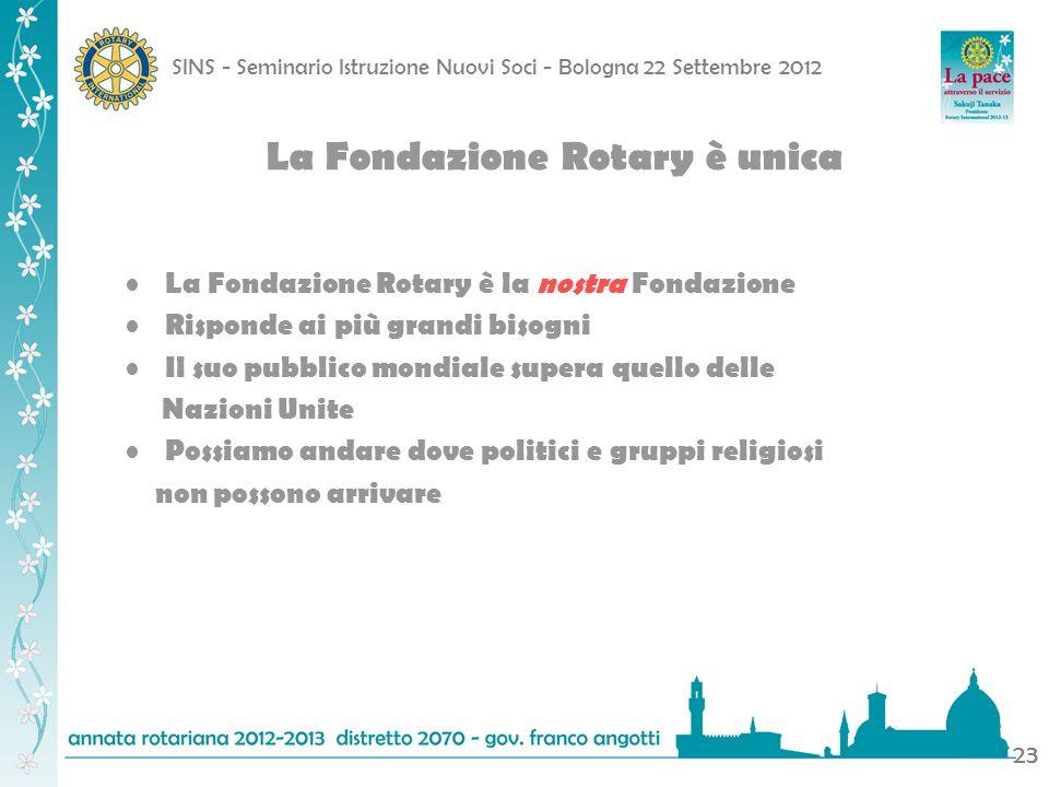 La Fondazione Rotary è unica