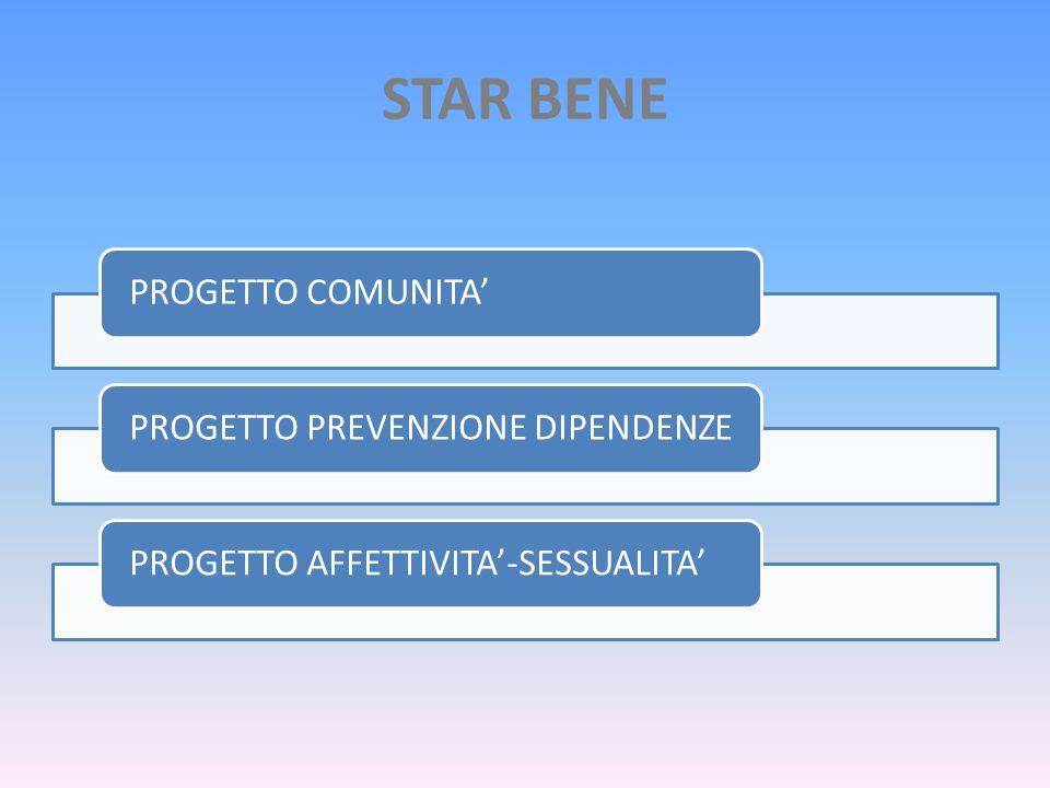 STAR BENE PROGETTO COMUNITA' PROGETTO PREVENZIONE DIPENDENZE