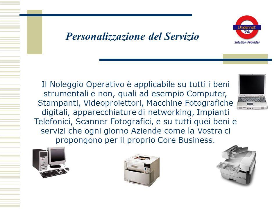 Personalizzazione del Servizio