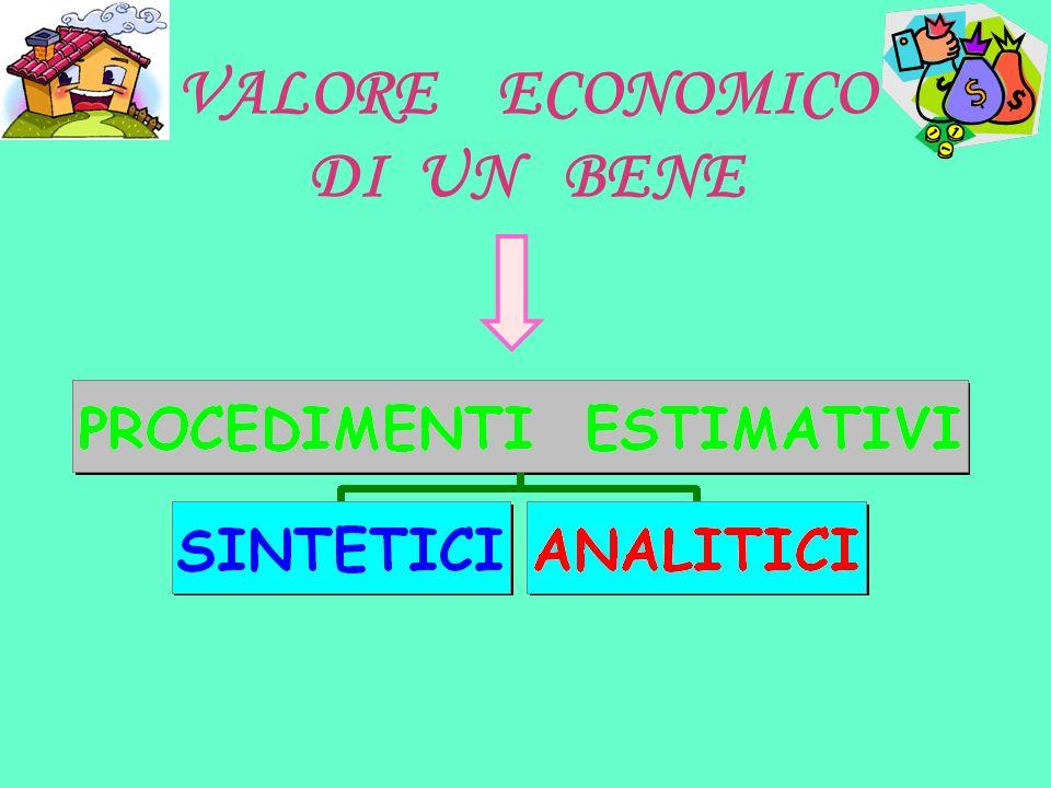 VALORE ECONOMICO DI UN BENE