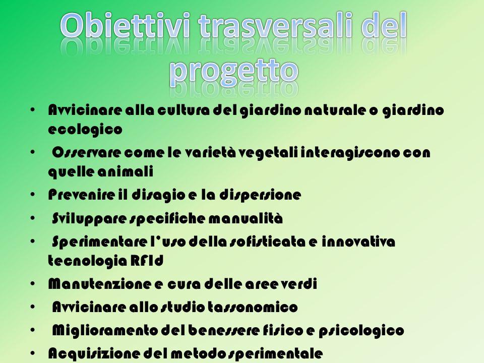 Obiettivi trasversali del progetto