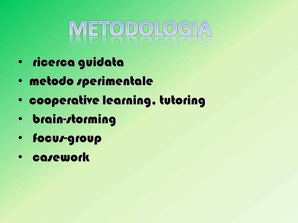 METODOLOGIA ricerca guidata metodo sperimentale