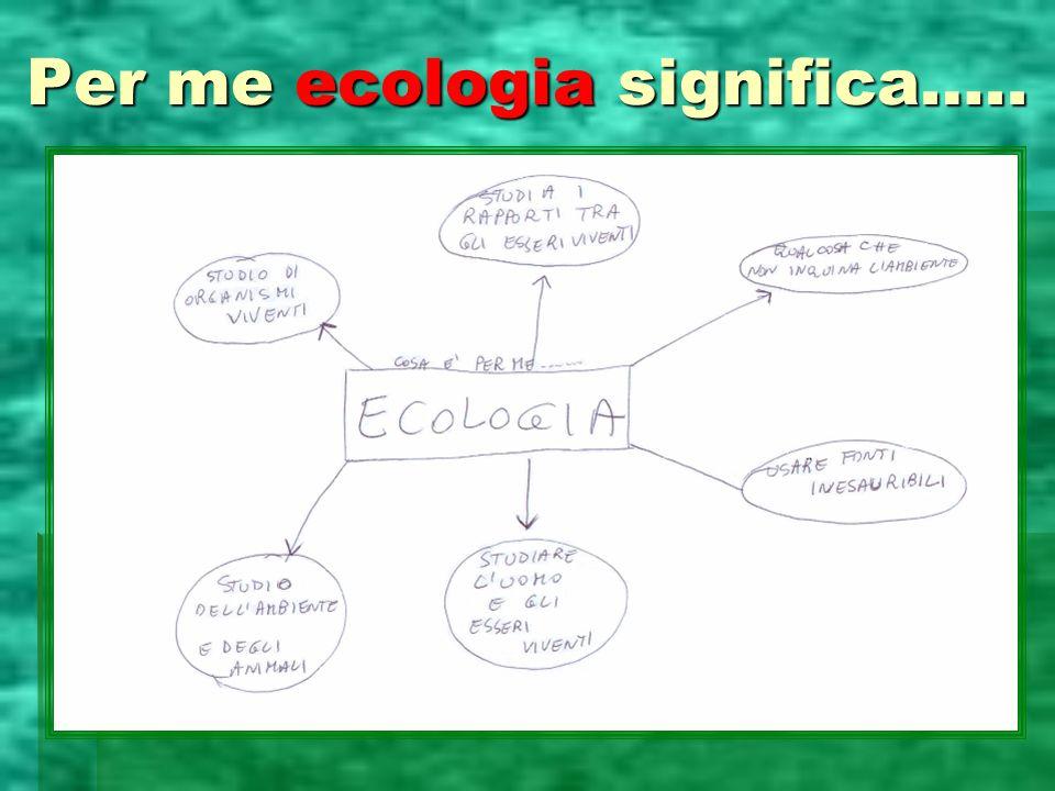 Per me ecologia significa…..