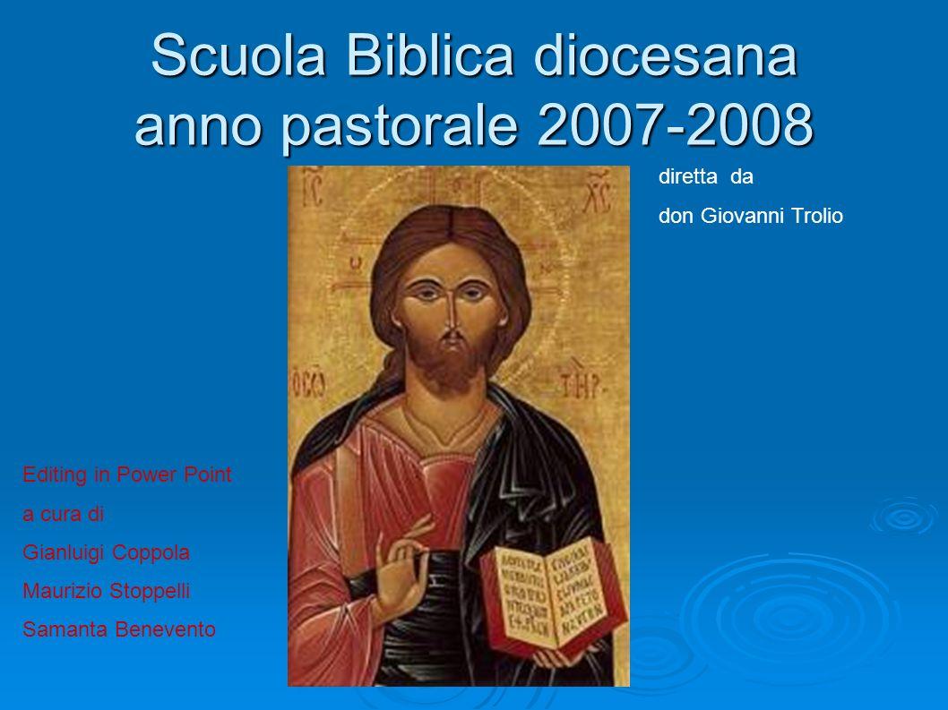 Scuola Biblica diocesana anno pastorale 2007-2008