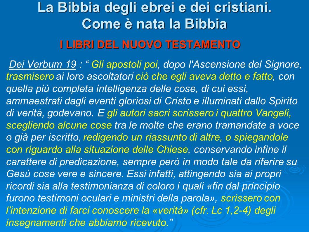 La Bibbia degli ebrei e dei cristiani. Come è nata la Bibbia