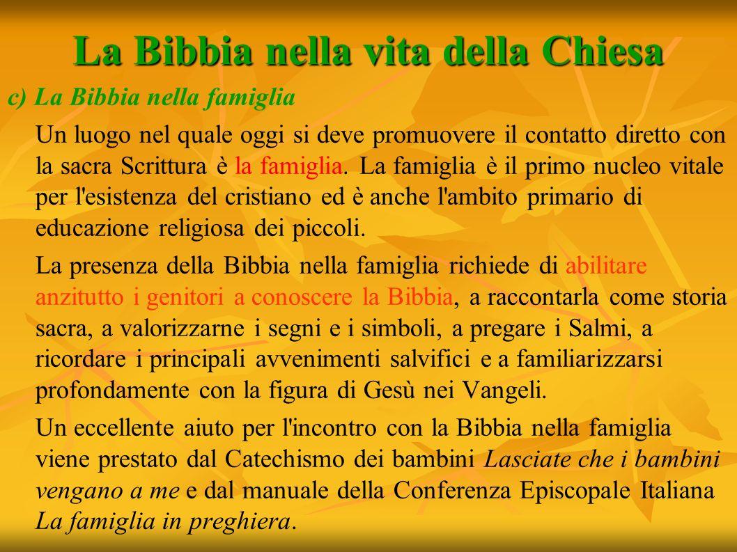 La Bibbia nella vita della Chiesa