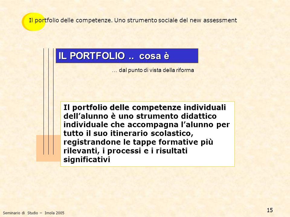 Il portfolio delle competenze. Uno strumento sociale del new assessment