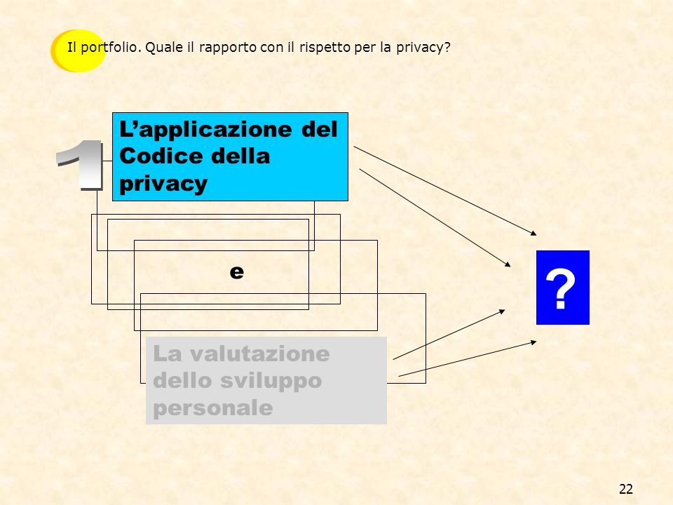 1 L'applicazione del Codice della privacy e