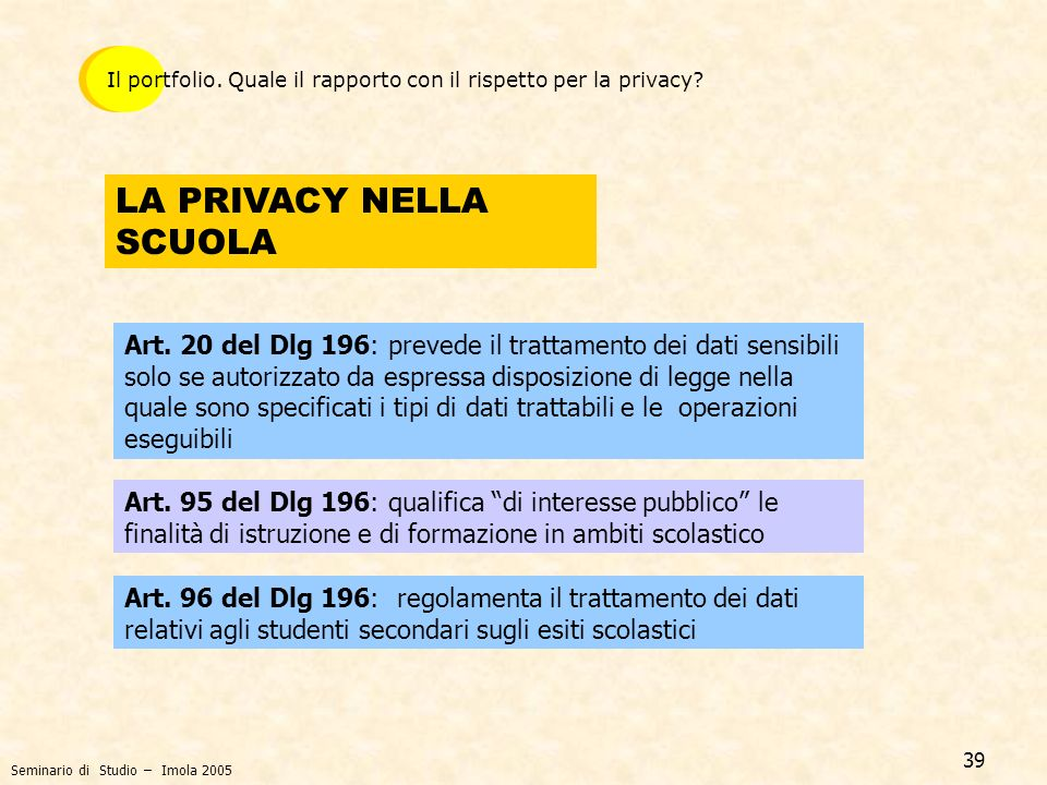 LA PRIVACY NELLA SCUOLA