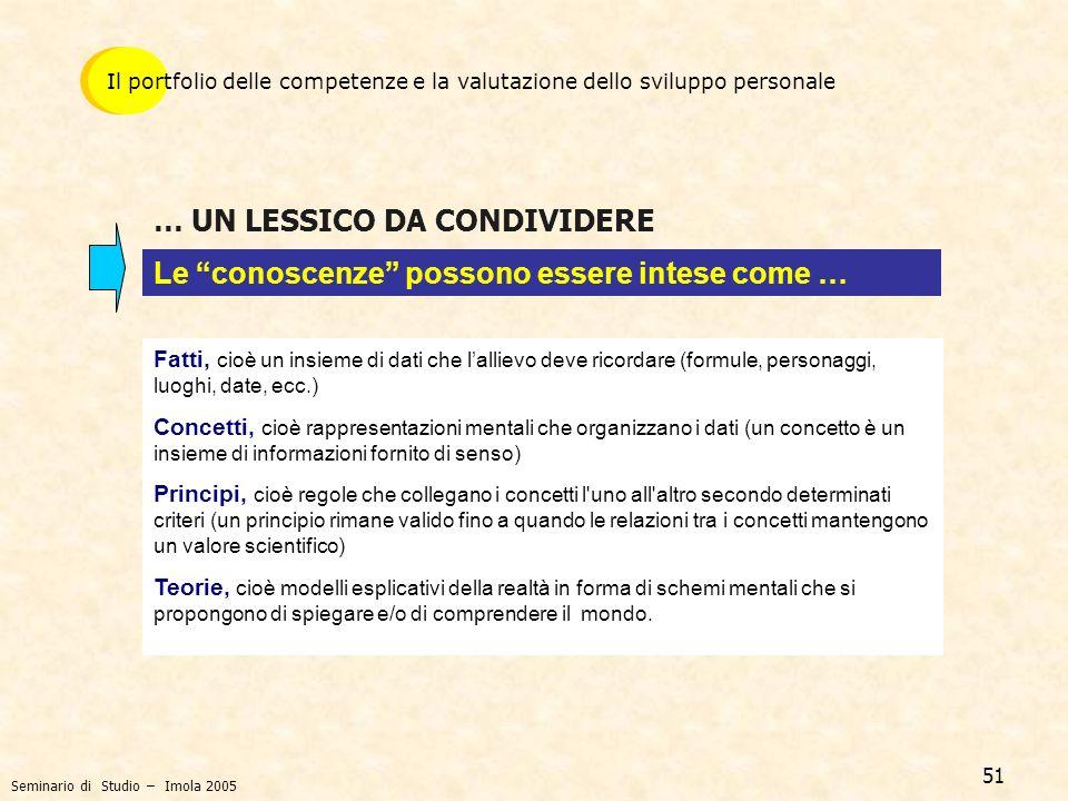 … UN LESSICO DA CONDIVIDERE