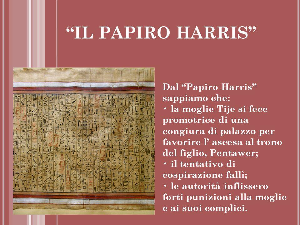 IL PAPIRO HARRIS Dal Papiro Harris sappiamo che: