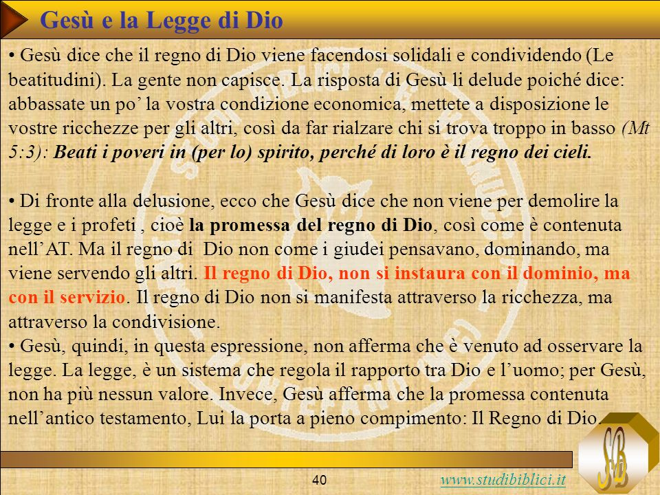 Gesù e la Legge di Dio