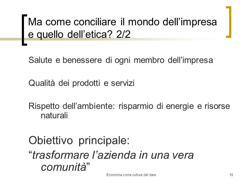 Ma come conciliare il mondo dell'impresa e quello dell'etica 2/2