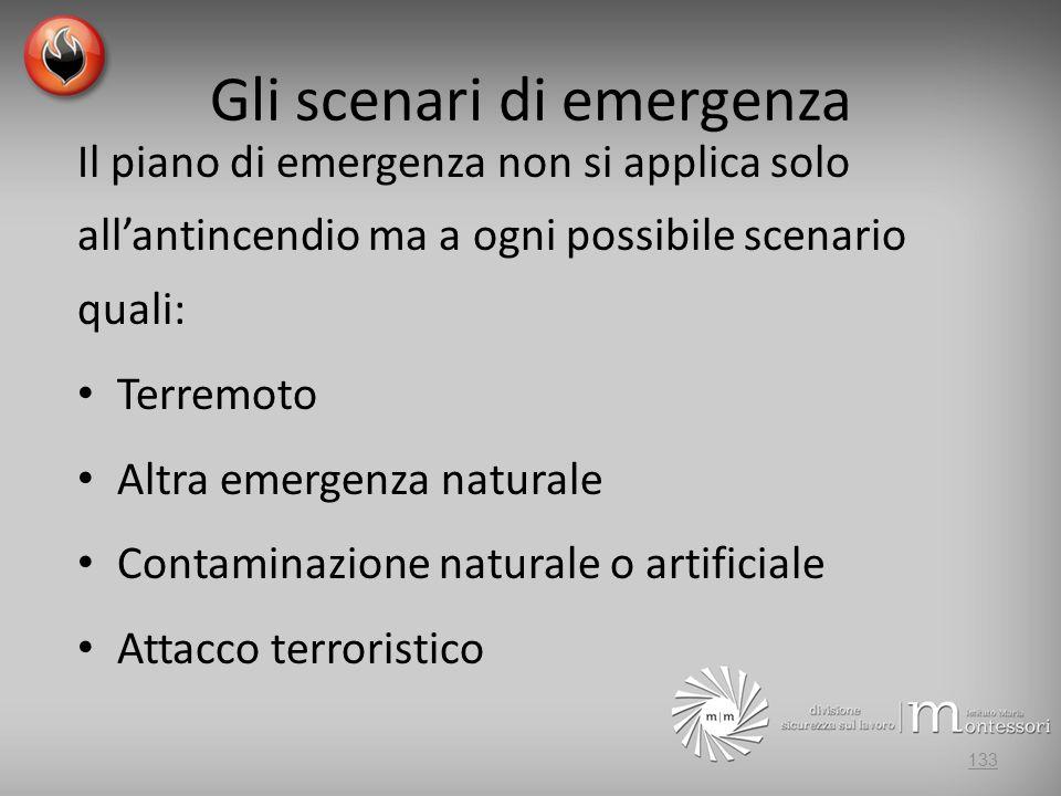 Gli scenari di emergenza