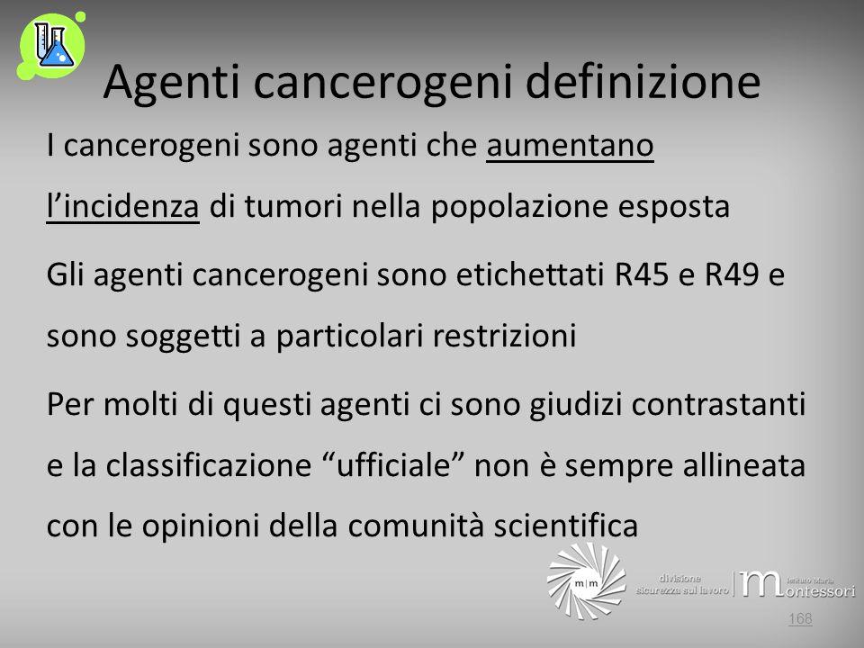 Agenti cancerogeni definizione