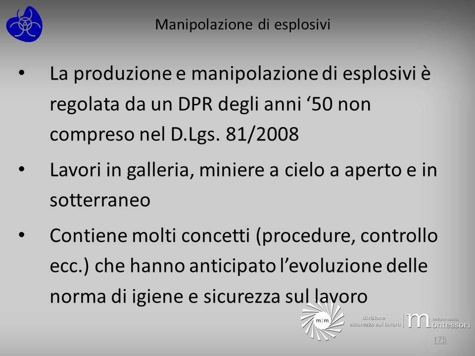 Manipolazione di esplosivi