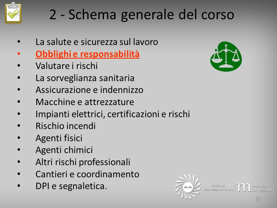 2 - Schema generale del corso