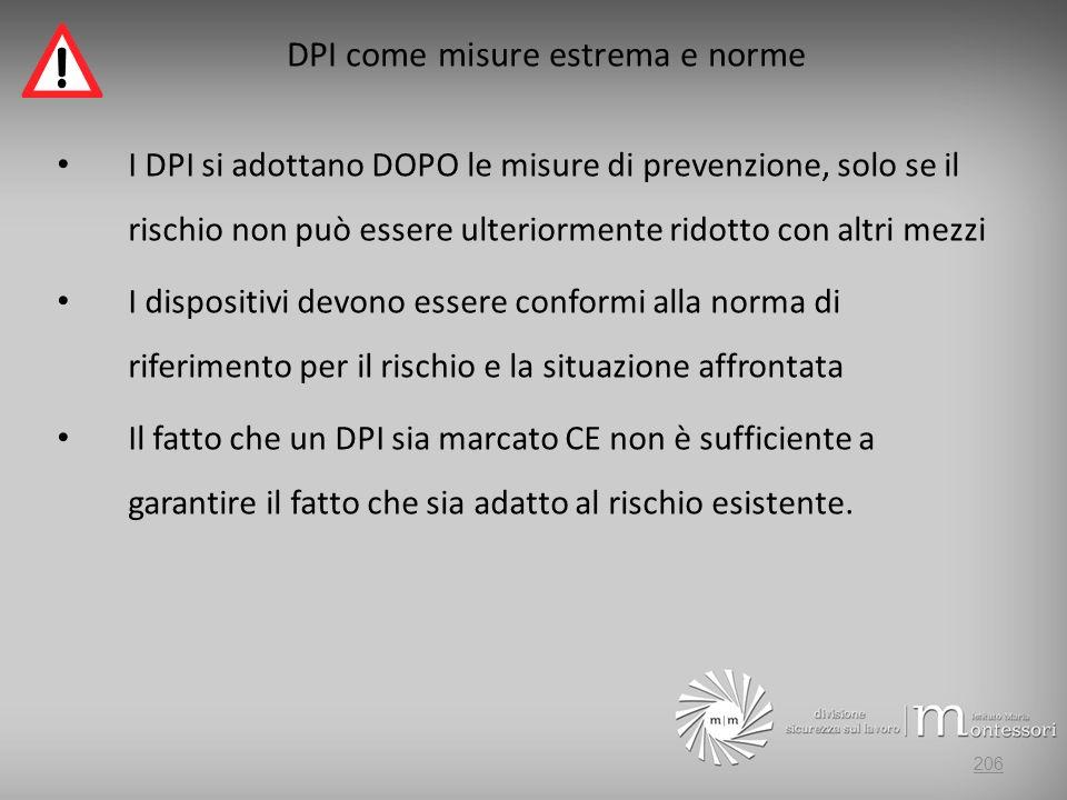 DPI come misure estrema e norme